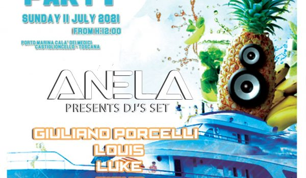 Summer Boat Party Sunday 11 july 2021